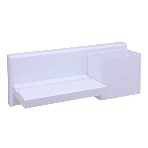 okomatch Wand montiert Regal Mehrzweck selbstklebend Saugnapf Kunststoff Storage Rack/Floating, für Badezimmer/Küche/Dusche/Parlor/Office–kein Bohrer/Nail, plastik, #1(Shelf), S (Dusche Fliesen Wand Regal)