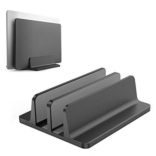 CouHaP Laptop Ständer aus Aluminium Verstellbarer Vertikalen Platzsparender Ständer für MacBook Pro/Air, Notebook und Samsung Tablet Ultrabook, Lenovo und andere