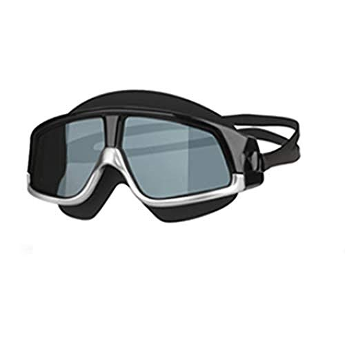 LDGR Children Fly Swimming Glasses Silicone Goggles Men and Women Hd Waterproof Large Frame@Silver