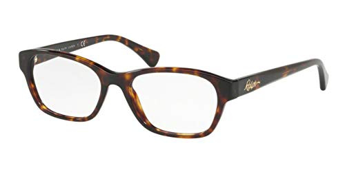 Ralph Lauren Women's 0RA7093 Optical Frames, Brown (Shiny Dark Havana), 54