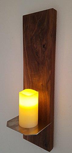 Exklusiver Massivholz Kerzenhalter aus amerikanischem Nussbaum Unikat