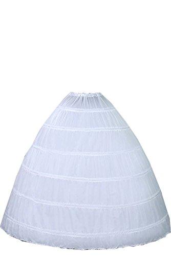 Wecharm Damen Weiss Lang Reifrock Petticoat Unterrock Fuer Abendkleider Ballkleider Promkleider Brautkleider
