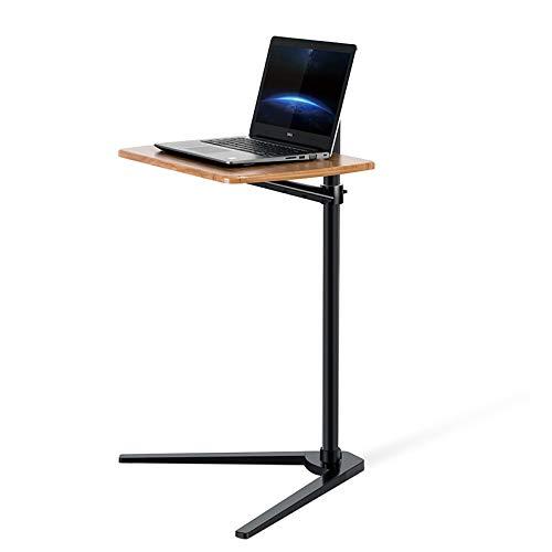 Thingy Club Beistelltisch, höhenverstellbar, für Bett oder Sofa, Laptop Schreibtisch Black- Hickory Board