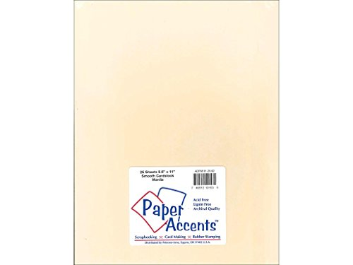 (Accent Design Papier Akzente adp8511–25.62Nr. 7521,6x 27,9cm Manila Glatte Karte Lager)