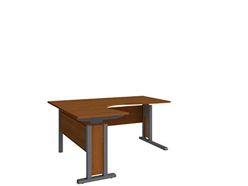 Wellemöbel, JOBexpress, Eck-Schreibtisch 90° 160 cm x 140/80 cm 73309204, Kirschbaum