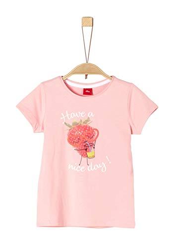 Rosa Mädchen T-shirt (s.Oliver Mädchen 58.906.32.5720 T-Shirt, Rosa (Soft Rose 4136), 104/110 (Herstellergröße: 104/110/REG))