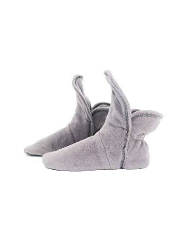 Raikou Hausschuhe für Damen, Herren aus Micro Fleece mit ABS und Rutschfester Sohle in versch,Super Flauschige Hüttenschuche (37-40, Charcoal Grau)