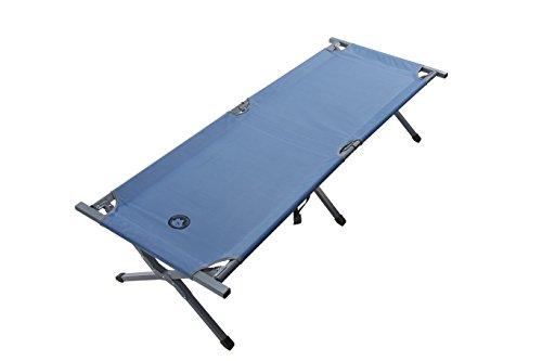 Grand Canyon Alu Camping Bed Extra Strong M - Brandina da campeggio pieghevole in alluminio, portata 150 kg, 190 x 64 x 42 cm, blu, 308102