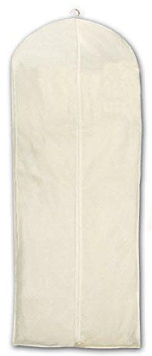 HBCOLLECTION - Natürlicher Baumwolle Weiß Kleidersack Kleiderhülle Schutzhülle für Brautkleid...