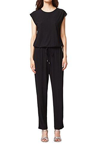 ESPRIT Damen Jumpsuit 048EE1L006, Schwarz (Black 001), Large