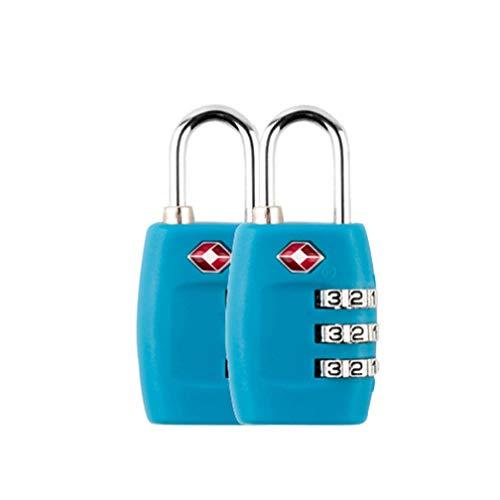 Kofferschloss TSA, Zahlenschloss Gepäckschlösser Reiseschlösser 3-stellige Zahlenkombination - Bestes TSA anerkanntes für Reisesicherheit,LightBlau * 2 Stück