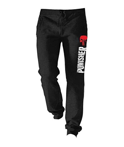 The Punisher Logo Pantalones de Gimnasia Negro XXL