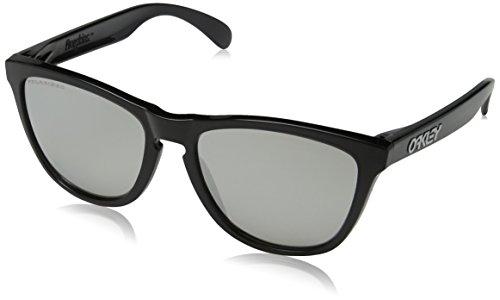 Oakley Herren Sonnenbrille FROGSKIN Schwarz (Black Ink/Chromeiridiumpolarized), 55