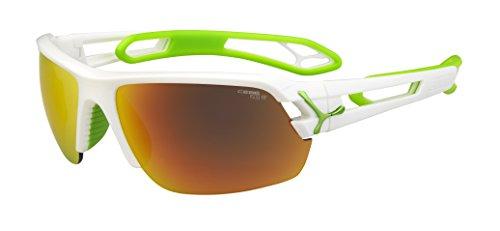 Cébé S'Track - Gafas de sol deportivas, color blanco brillante / verde anís, talla M