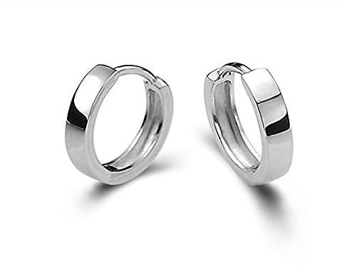 Wiftly Damen Herren Mädchen Ohrringe Silber 925 Einfache Stil