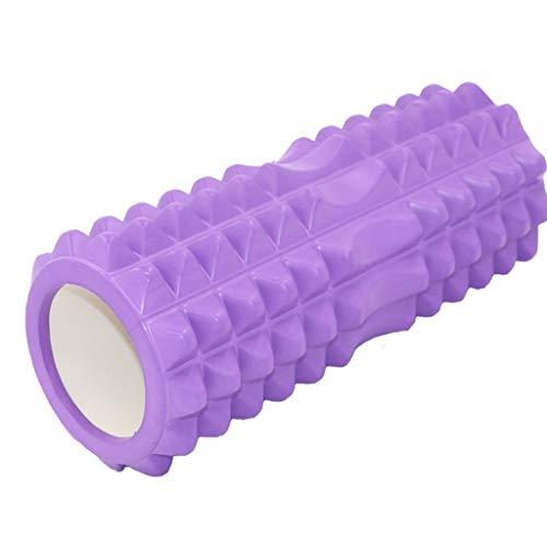 JKL Triggerpunkt Schaum Massage Stick, Muskel Roller Spike Massage Ball Licht und Feste Muskel Gesundheit Reflexion Therapie (Farbe : Lila) (Spike Massage Roller Ball)