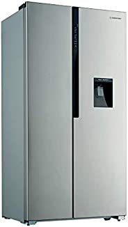 Westpoint Refrigerator Side By Side 552-Liter with Water Dispenser & Stainless Steel Finish Model WSKN-551