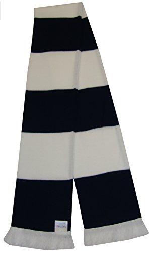 Color azul marino y blanco bufanda