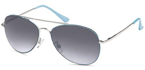 Feinzwirn Sonnenbrille Pilotenbrille Gradient-Verlaufsgläsern Federbügel Fliegerbrille +...