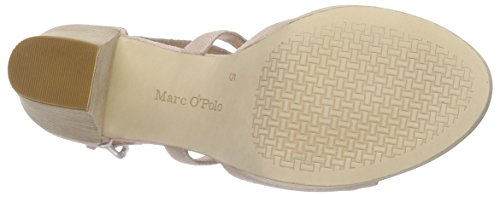 Marc O'Polo High Heel Sandal, Sandales Plateau femme Beige - Beige (nude 304)