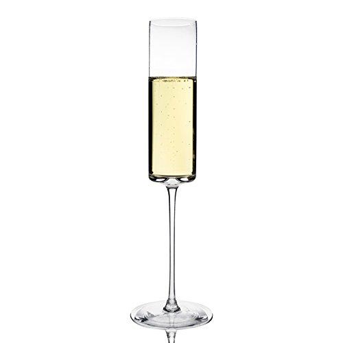 Set von 6modernen hoch feine Mundgeblasenes Glas Champagner Flöten von Katie jaynetm