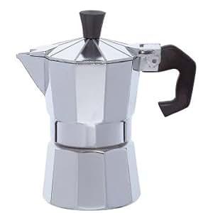 KitchenCraft Le'Xpress 1-Cup Stovetop Espresso Maker, 60 ml - Aluminium