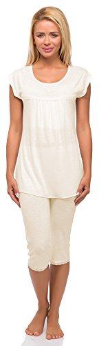Merry Style Ensemble de Pyjama Femme Mod?le 978 Ecru