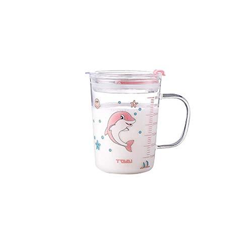 Kaffeetassen Kaffee Kakaotasse Kaffeetasse, Kaffeebecher Tee Mit Skala Stroh Tasse Glas Mädchen Ins Wind Erwachsener Hat Einen Henkel Saft Milch Tasse A1613