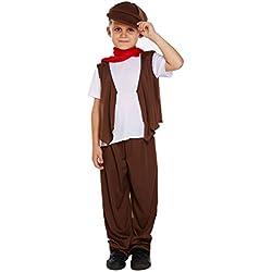 Niños 5Piezas pobres Victoriano deshollinador disfraz 4–12años
