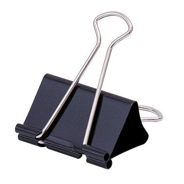 Soennecken Foldbackklemmer Breite: 25 mm, max. Klemmdicke: max. 9 mm, schwarz, 12 St./Pack.