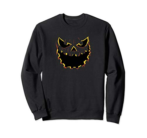 Böse Kürbis Jack O Laterne Sweatshirt (Jack Kürbis König Kostüm)