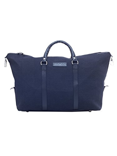 MBOSS Black 29 Liter Canvas and Faux Leather Fusion Duffel Tote Gym Travel  Bag TB 051 f17d2259ec