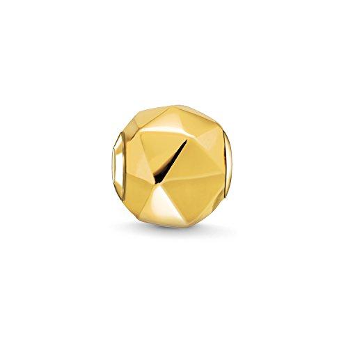 THOMAS SABO Unisex Bead Dreieck 925er Sterlingsilber; 750er Gelbgold Vergoldung K0227-413-12