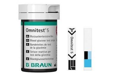 B. Braun Omnitest 5 Blutzucker Teststreifen Sensoren 100 Stück -