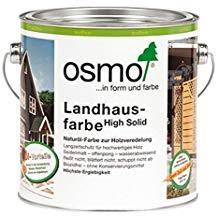 OSMO Landhausfarbe High Solid 2,5 Liter Kieselgrau 2708