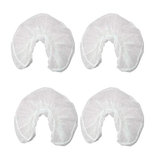 Healifty 50 stücke Einweg Kopfstützenbezüge Massage Gesicht Rest Abdeckungen vliesstoffe U Geformte Kissenbezug für Hotel Reise (Weiß) -