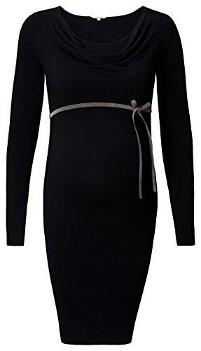 Noppies Dress Nurs Ls Dyanne 2 - Robe de Maternité - Femme Noir - Schwarz (Black C270)