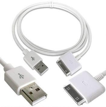 Câble de transfert de données et de chargement USB2.0 Dock pour Apple iPad 1 & 2, iPhone 3 & 4, iP. Touch, Classic & Nano G, GS