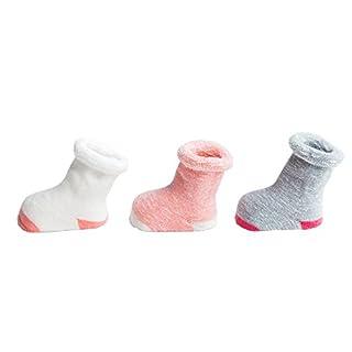 Ahatech Baby Mädchen Jungen Warm Baumwolle Socken 3 Paar