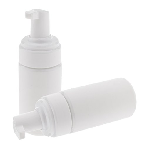 Fenteer Foaming Soap Dispensers 3.5oz/100ml Capacity (2/pack); Pumps Empty Plastic Liquid Soap Pump Bottles - white, as described
