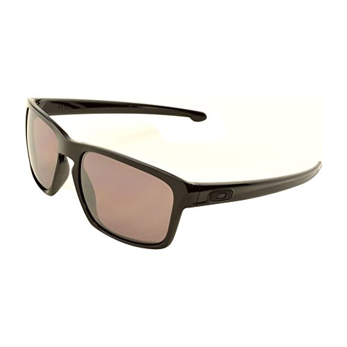 96d67498842c4c Oakley Herren Sonnenbrille Sliver Pol Black with Prizm Daily Polar, Schwarz  (Polished Polarized)