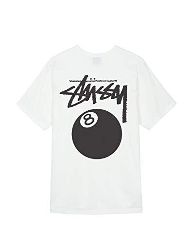 8bbc63250f0 Camiseta STUSSY 8 Ball Pig DYED Natural L Blanco