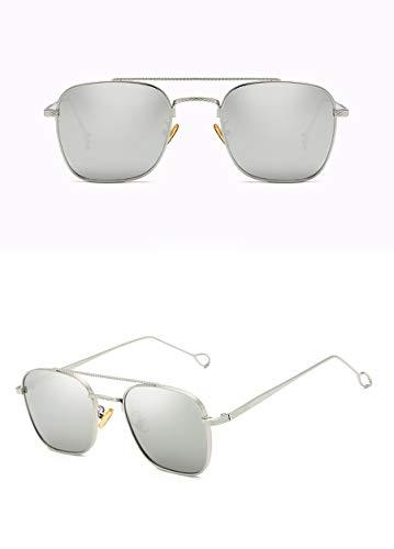 Zjwz nuovo box occhiali da sole trend unisex occhiali da sole guida sunglasses,silverwhitemercury