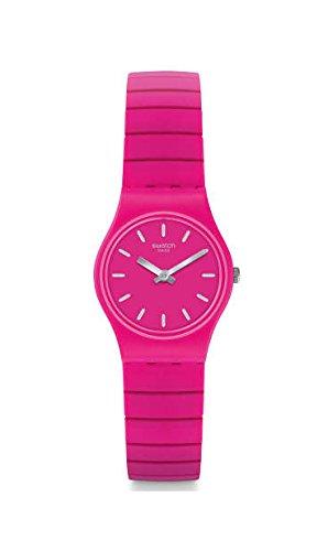 Swatch Damen Analog Quarz Uhr mit Edelstahl Armband LP149B