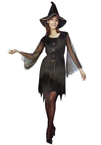 Islander Fashions Ladies Halloween Party Disfraz Bruja