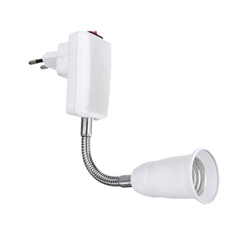 E27 Zu Eu-Stecker Lampenfassung Adapter Konverter LED Lampe Basis-Switch