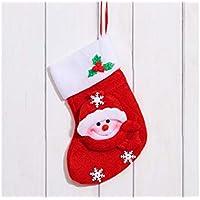 SOPOUITRO Exterior Interior Franela Muñeco de Nieve Calcetines de Navidad Bolsa de Regalo Bolsa de Regalo
