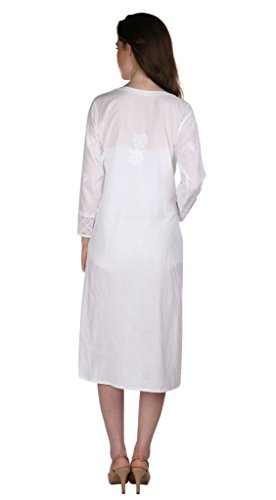 Indiankala4u-Ladies-Dresses-Tops-Kurti-Long-Kurta-Hand-Embroidery-Handmade-Lucknow-Chikank