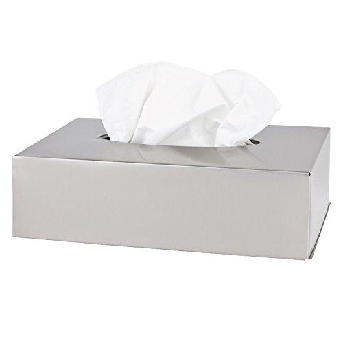 bremermann Bad-Serie Piazza - Kosmetiktücher-Box aus Edelstahl, Papiertuchspender