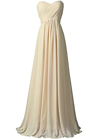 WAWALI A-Line Straplees Prom Dresses Evening Party Gowns 17 Beige